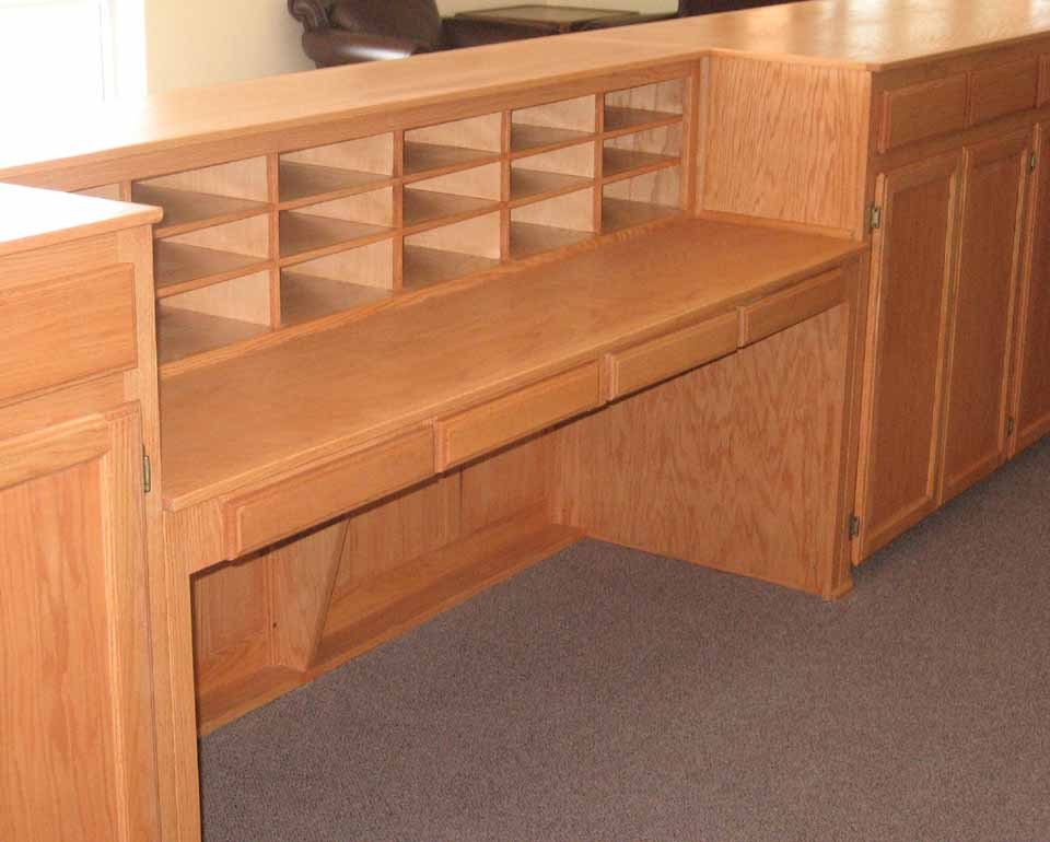 with oak in desk office l pittsburgh reception new source used hutch shaped decorating ofw light for life ideas household