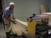 All of our wood has to be planned to thickness.  Jack Tennison, our former leader, is making thin boards out of thick ones.