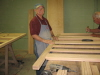 Paul Temple is final sanding a bunk bed head board