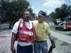 The Red Cross director along with one of our hard workers.
