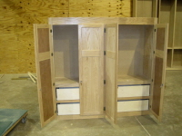A storage cabinet for a hallway at FBC, Midland.