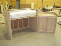 A two piece sound console cabinet for FBC, Midland.