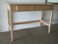A finished and installed writing desk -