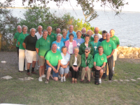 The TBM Furniture Ministry group got together for a group photo overlooking Lake Corpus Christi.